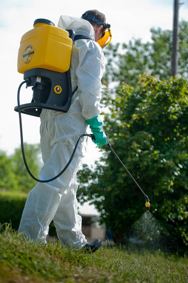 A St Dogmaels woman has raised concerns over the county council's use of weedkiller