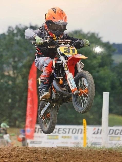 Young motocross rider Ifan Rees