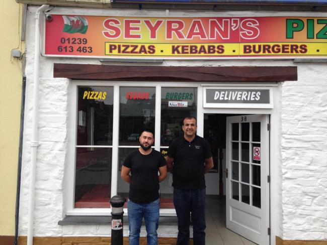 Seyran's Ozi Zeven and Yasar Nas are to hand over a day's takings to the Freya's Steps appeal