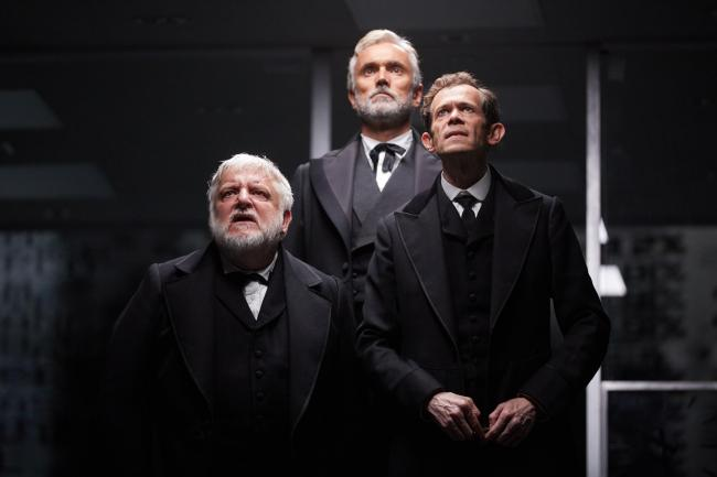 Simon Russell Beale, Ben Miles and Adam  Godley in The Lehman Trilogy. PICTURE: Mark Douet