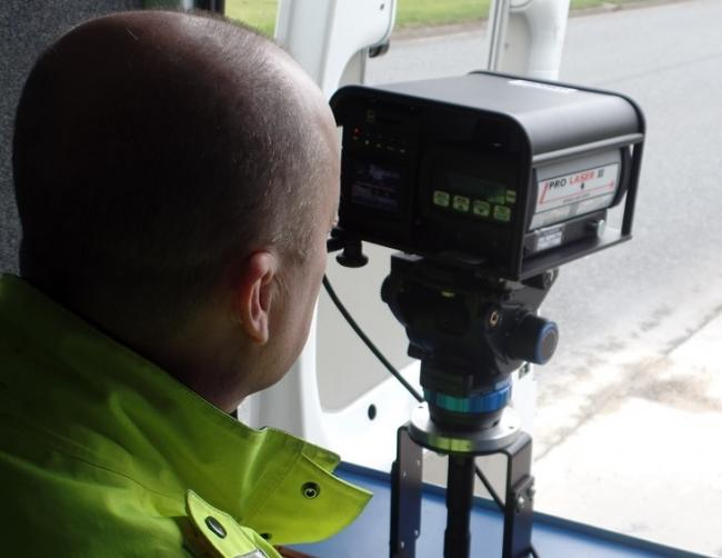 A speeding driver has been fined