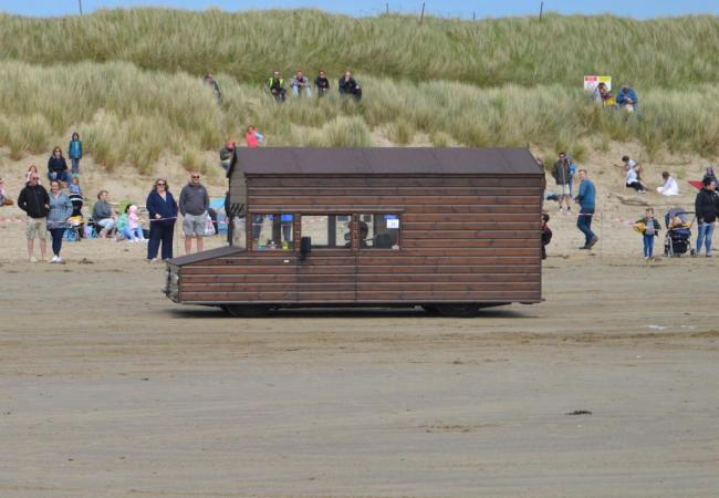 Kevin Nicks' 100mph-plus shed at Pendine.