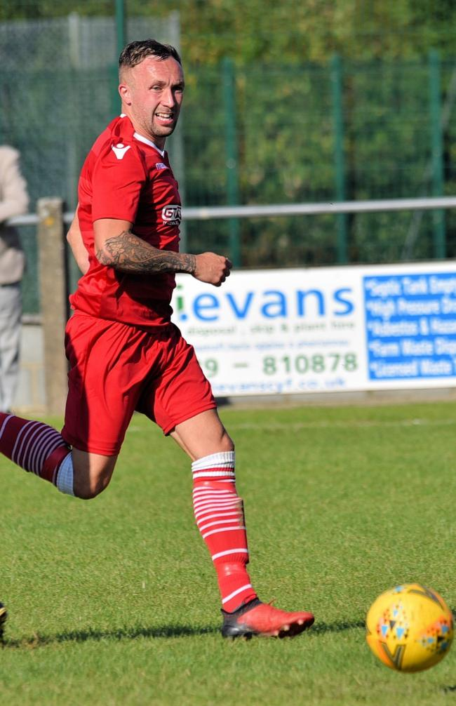Emlyn's Dorian Davies in action PICTURE: Julie John