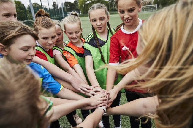 The Huddle scheme is looking to encourage more girls to take up football and has been set up in Cardigan