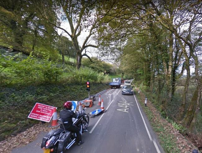 The first phase of essential road maintenance works on the A484 in the area is nearing completion. Picture: Google