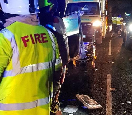 Police are appealing for witnesses to a serious road accident between Cardigan and Llechryd. PICTURE: Ceredigion Roads Policing Unit