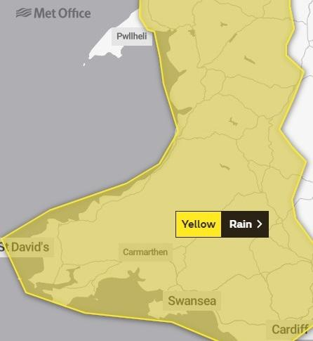 Heavy rain is set to sweep in from Friday. PICTURE: Met Office
