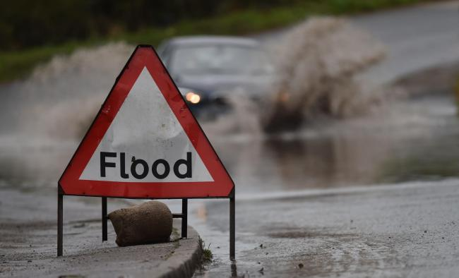 Drivers are advised to take car as wind and rain continues to batter the Cardigan area