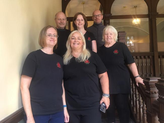 The team from Cymru Paranormal during their investigations into ghostly goings-on at the Penrallt Hotel