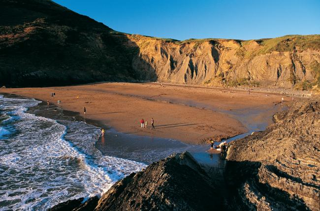 The standard of bathing water at Mwnt beach has been rated as excellent