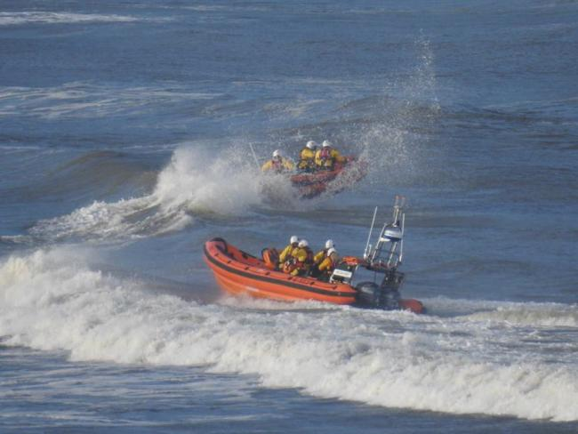 Both Cardigan lifeboats were launched after two people got into trouble off Cardigan yesterday. PICTURE: Mike Jones