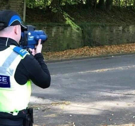 A driver has been fined for speeding