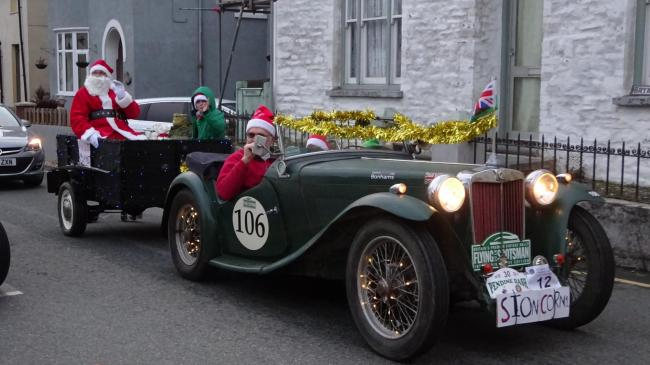 Father Christmas will be arriving in style at Llandysul Christmas Fair this year as his reindeers take a well earned rest before the hard work starts