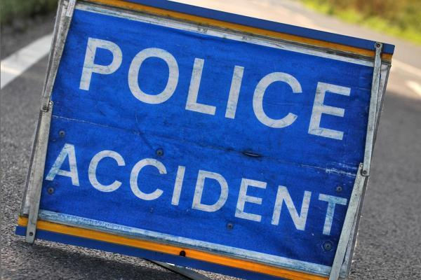 A car overturned on the A484 between Cardigan and Newcastle Emlyn