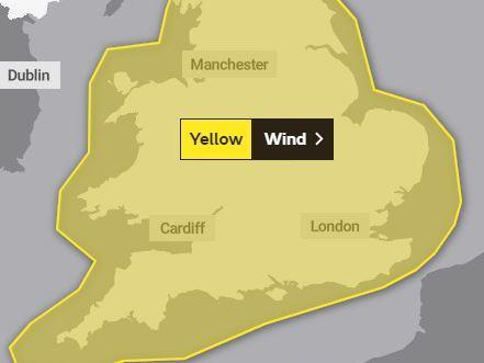 The Met Office has issued another weather warning for Tuesday. PICTURE: Met Office
