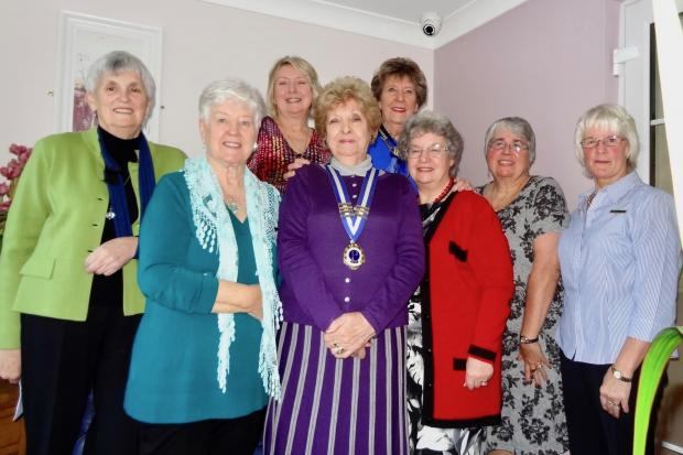 Pembroke Ladies Probuspresident Gwen Smith, centre, with her committee for 2020-2021.