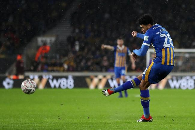 Josh Laurent scored for Shrewsbury against Wolves in the FA Cup last season