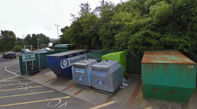 The recycling bins at St Dogmaels have been removed by Pembrokeshire county council. PICTURE: Google Maps