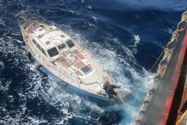 UK-registered yacht rescued 500 miles off the coast of Cornwall