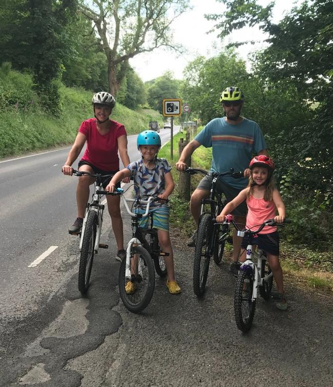 The Peckham family from Pentrcagal is calling for safer cycling routes in the Teifi Valley