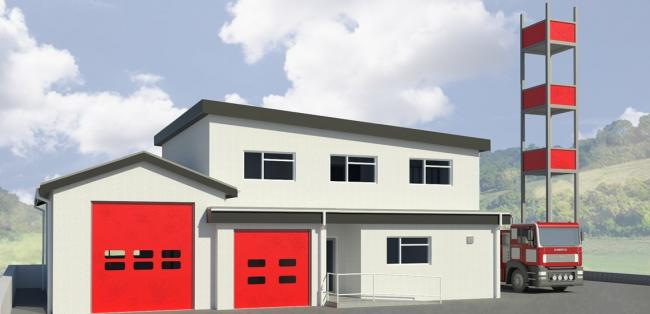 The remodelled plans for Llandysul Fire Station