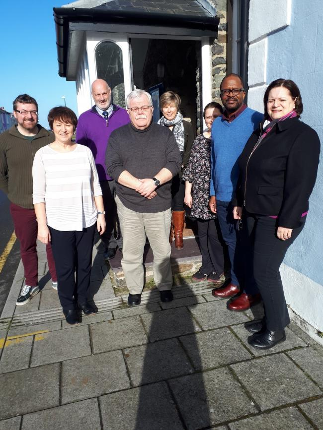 Citizens Advice Ceredigion board of trustees, together with Serretta Bebb, chief executive officer