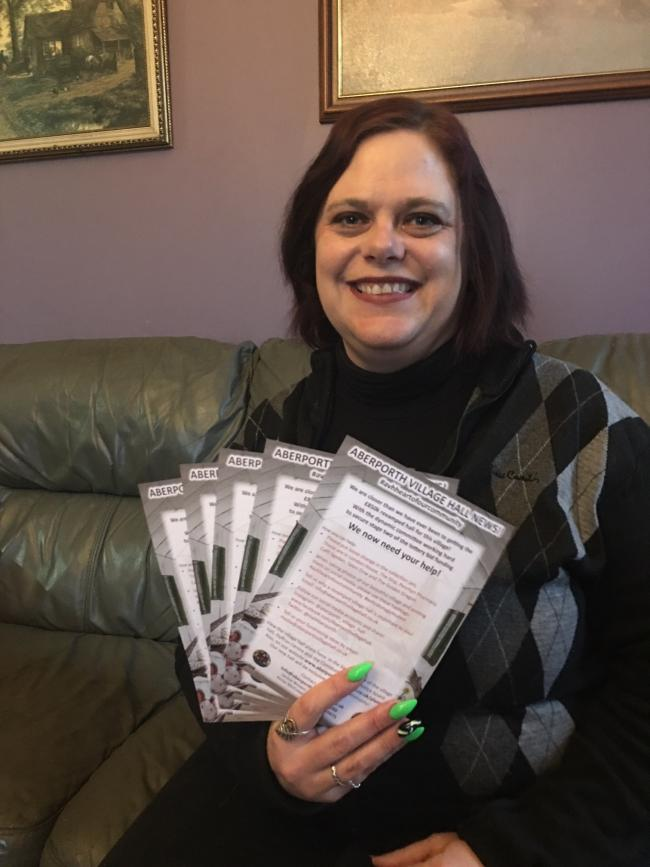 Fundraising sub committee chairman Kristina Jackson with the leaflets which will be delivered to all homes in the local area
