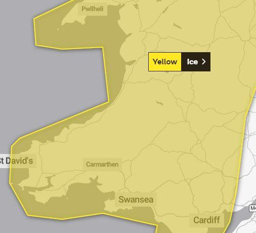The Met Office is warning of icy conditions. PICTURE: Met Office