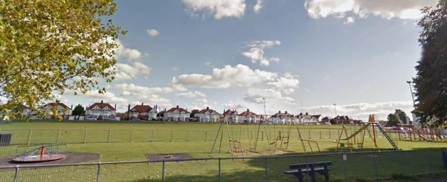 The play area at King George V playing fields in Cardigan is being upgraded. PICTURE: Google Maps