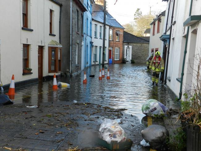 Welsh Government have been moved to act on Cardigan's flood defences by past incidents such as this.