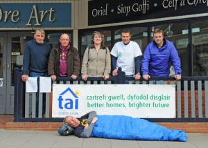 To mark Rural Housing Week  housing chief executives slept out in Cardigan