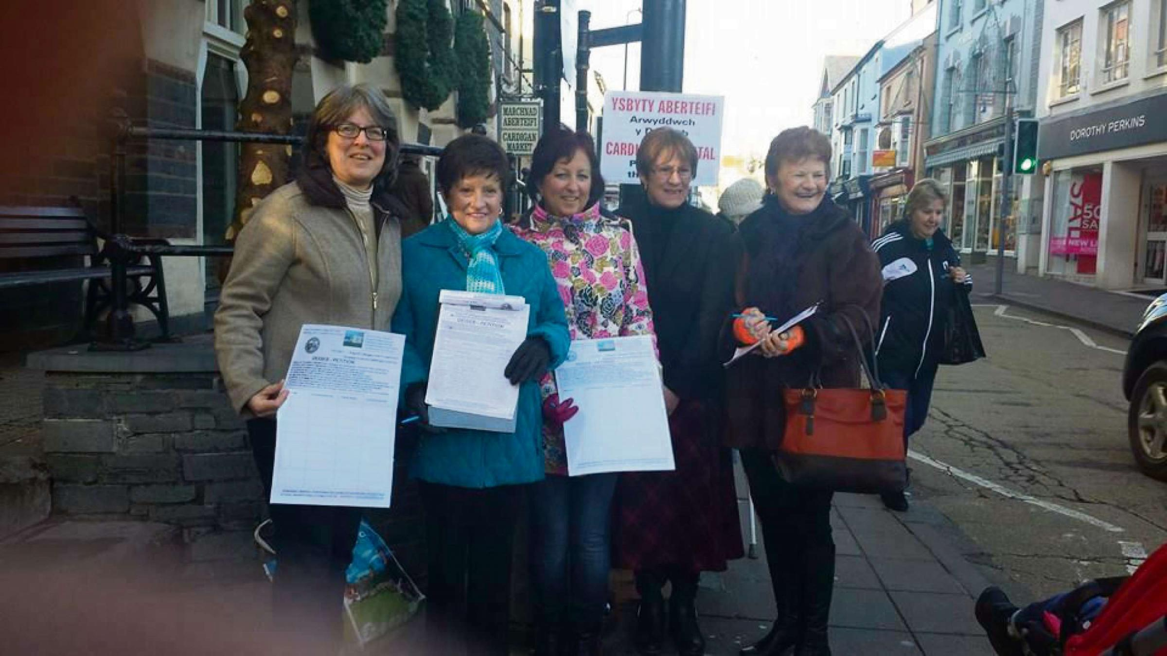 League Of Friends: Cllr Catrin Miles, Bessie Harries, Gwen Jones, Joyce Watson AM and Mair Morris