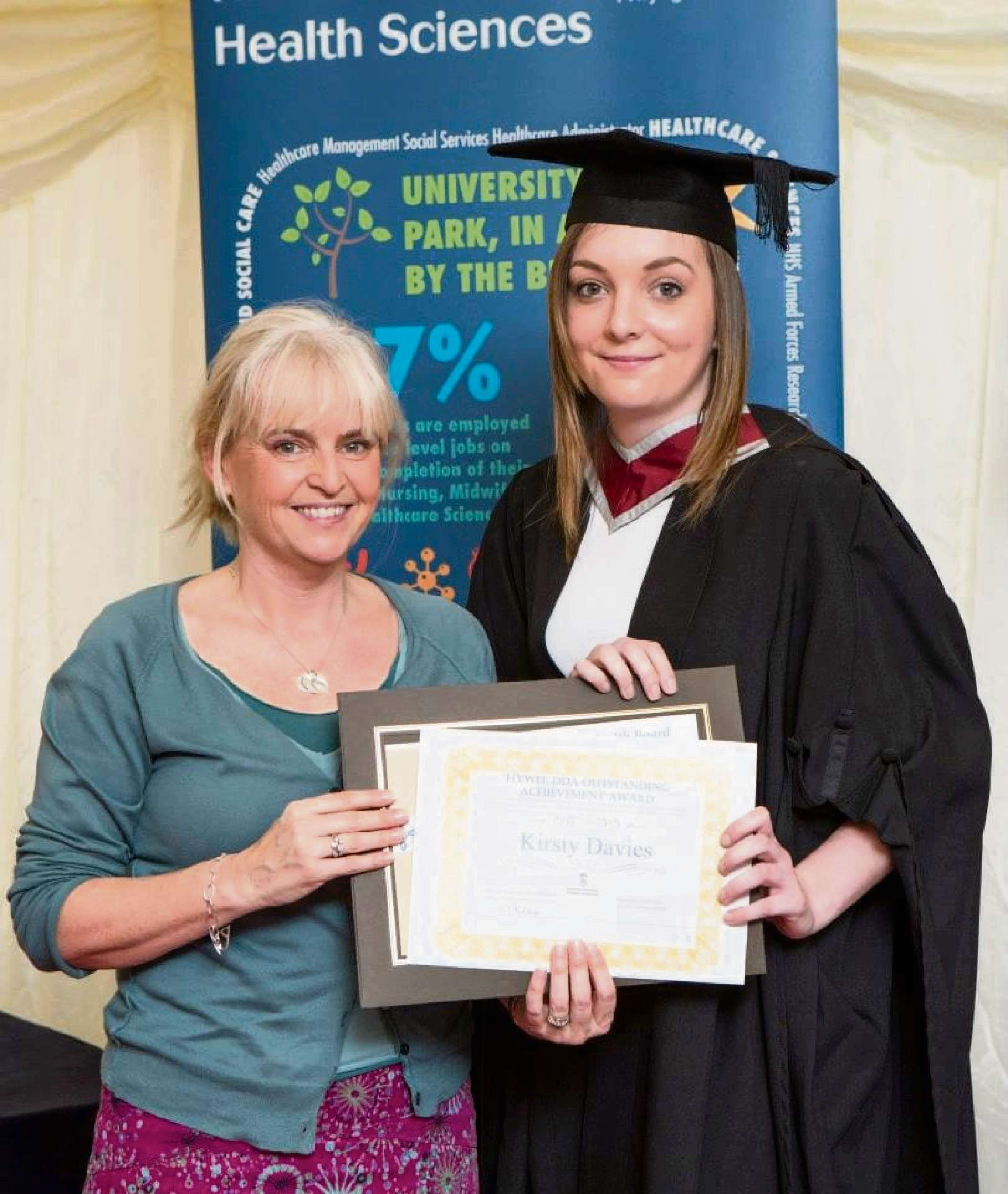 Kirsty Davies receiving the Hywel Dda Outstanding Achievement  Award. (3732624)