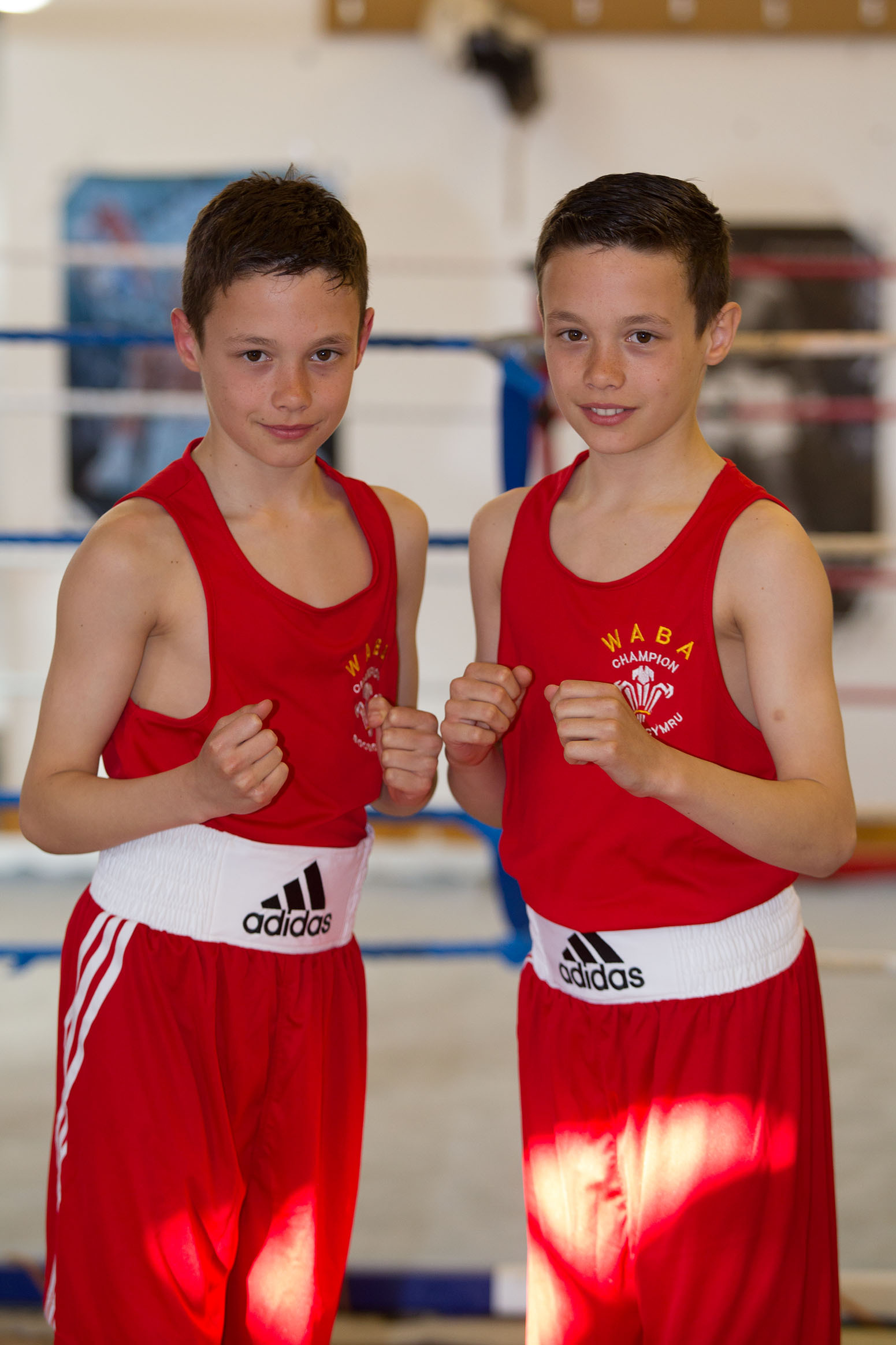 Welsh Schoolboy boxing champions. L-r : Ioan and Garan Croft  Emyr Rhys Williams (6096320)