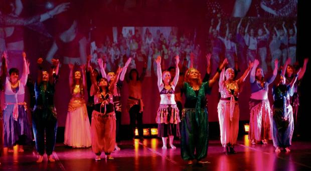 Belly dancers from West Wales dancing at Theatr Mwldan on 7th February to raise money for local cancer charities.