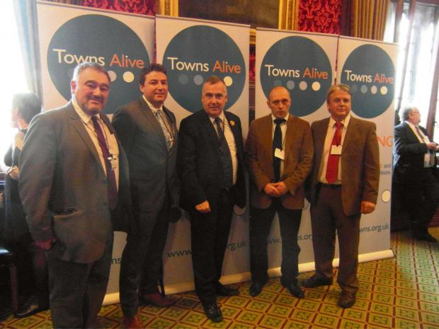 L-R, Cris Tomos, Clive Davies, Mark Williams MP, Aled Rees, Richard Williams