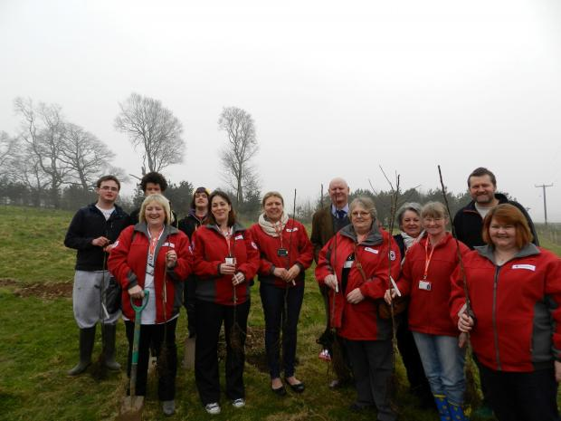 Tree planting at Clynfyw Care Farm (4620123)