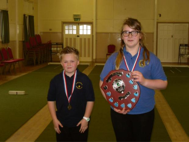 The last junior competition of the season was played in Aberporth on Saturday.11 and under winner, Emily Storer of Aberporth and runner-up, Marcus Hands of Penrhiwllan.Well done to all who took part and a big thank you to Eric and Moira Harries for all th
