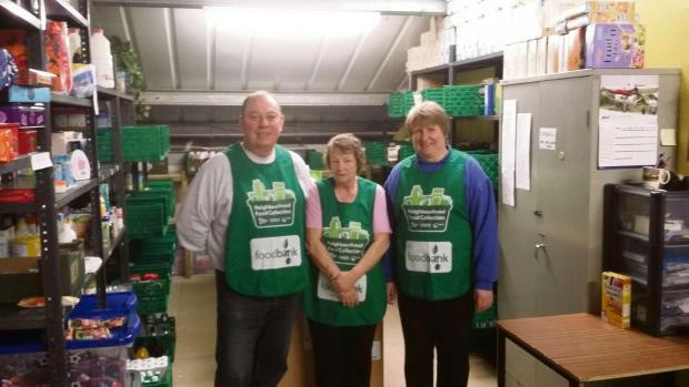 Cardigan food bank helpers