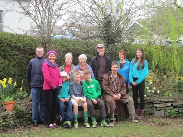 Tivyside Advertiser: Members of St Dogmaels Youth Club and Herb Garden