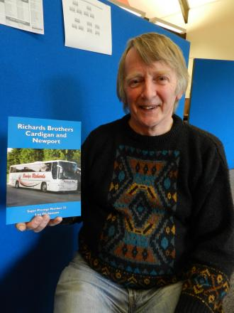 Author Les Dickinson with his new book on Richard Brothers