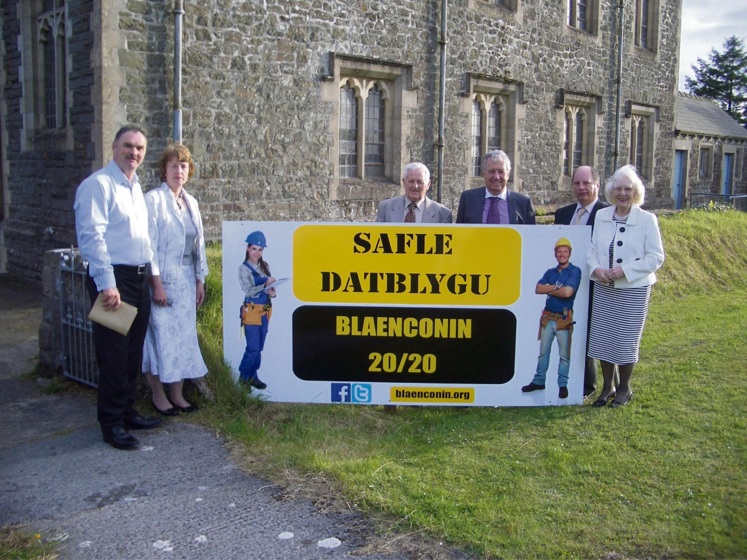Revd Huw George (left) joins the directors of the new Canolfan Blaenconin and Canolfan Waldo project designed to support community activity in Llandysilio, Pembrokeshire. With Revd George, who will chair the new Community Interest Company, are (l –