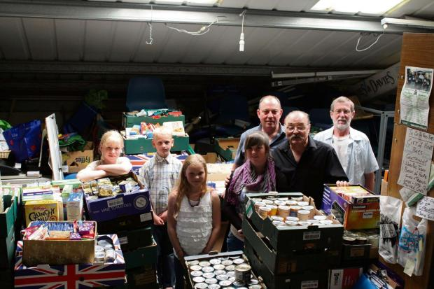 The volunteer team helping in the foodbank during a food collection.  (7627162)