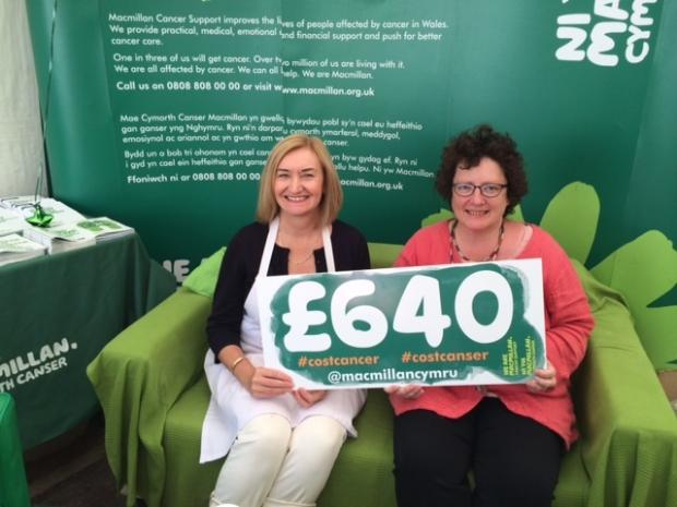 Susan Morris, Wales General Manager of Macmillan, with Elin Jones AM.