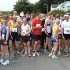 Tivyside Advertiser: Runners about to tackle the Pembrokeshire Half Marathon in Dale (copyright Pembrokeshire Triathlon Club) (9843874)
