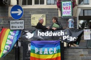 No to NATO vigil in Cardigan
