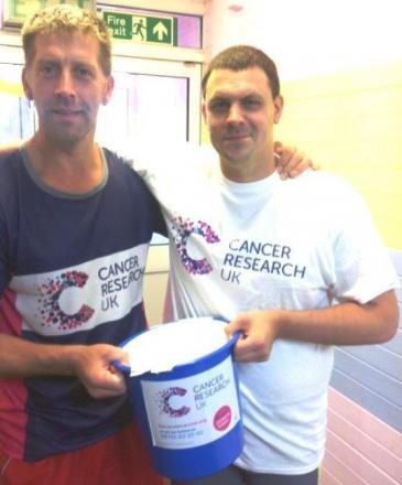 Pool fundraisers David Maund and Al Banfield
