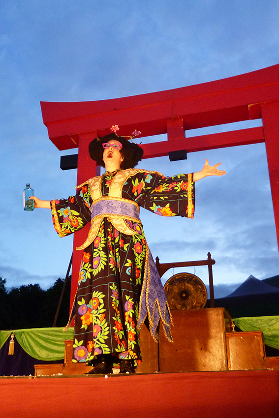 The Mikado is being staged at Cardigan Castle