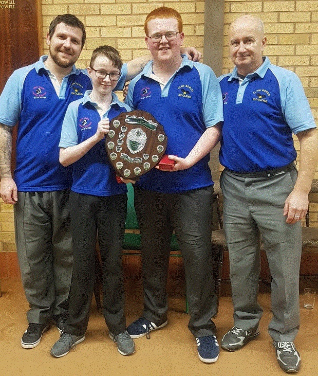 The Cardiganshire Short Mat 'Red Card ' winners of the county rinks from the Rhydlewis Short Mat bowling club have clinched the title of Welsh chamipns. After the earlier tournament at Cardigan indoor bowls centre they travelled to Llandrindod Wel