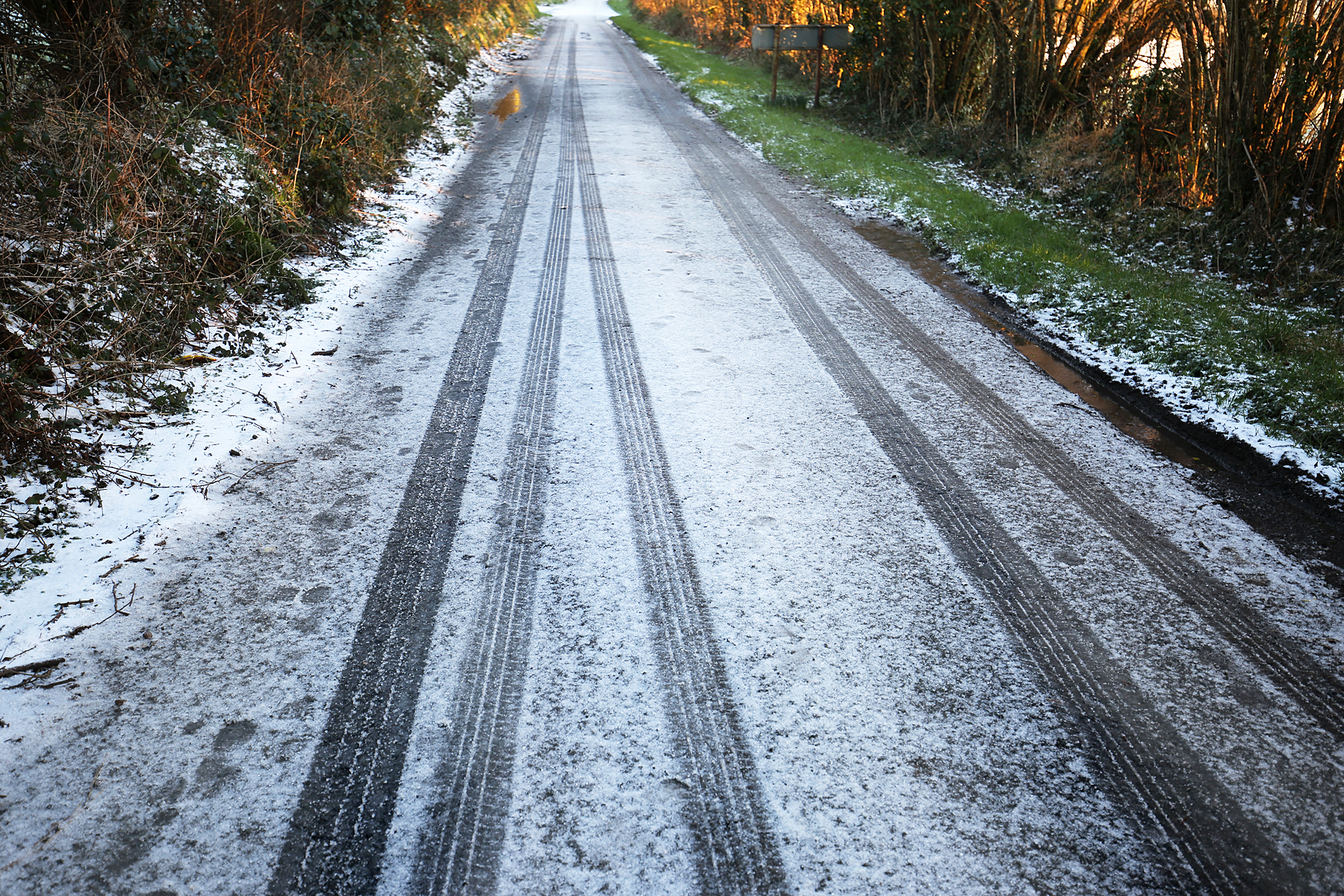 Icy roads made driving difficult. PICTURE: Barry Adams